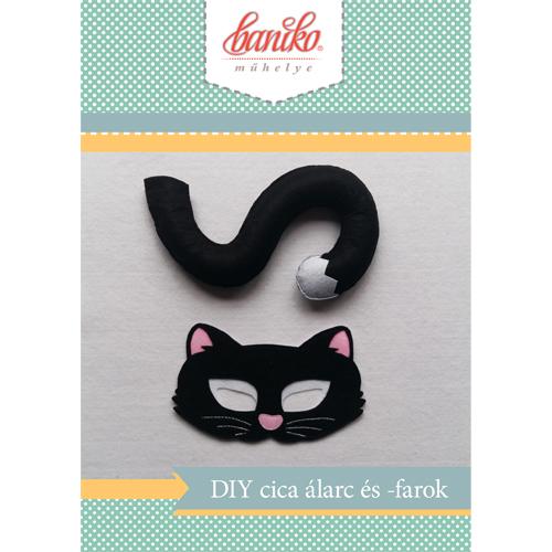 Csináld magad fekete macska álarc és farok
