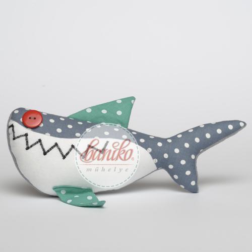 Türkiz szürke pöttyös cápa