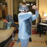 Látjátok milyen erős farkas vagyok?