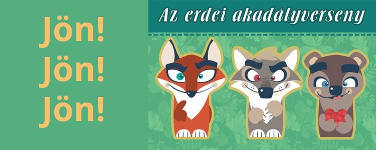 Erdei mese farkas, róka és medve ujjbábokkal